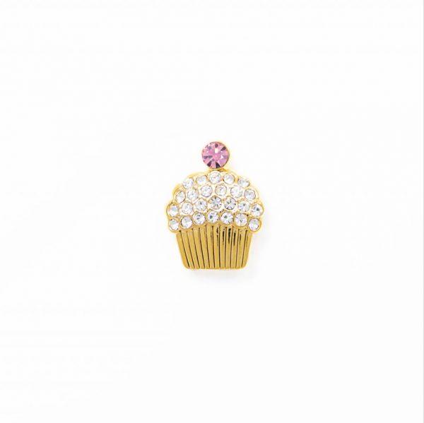 cupcake crystal pink gold