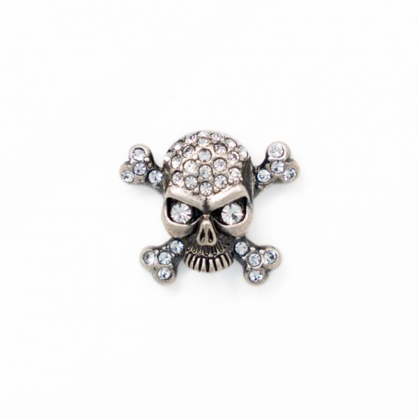 skull and crossbone silver