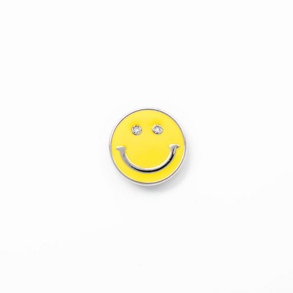 smile face silver yellow