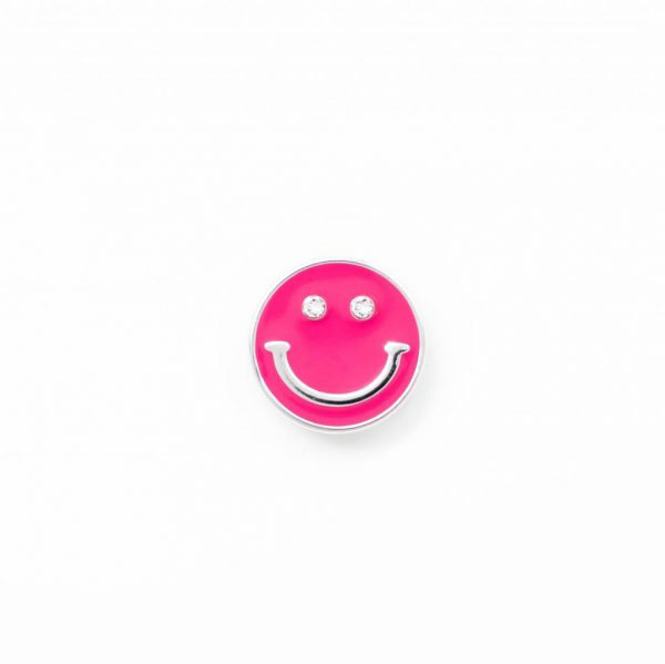 smile sign silver pink