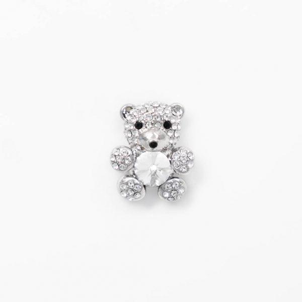 teddy bear crystal silver