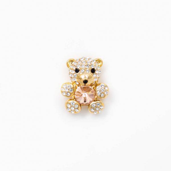 teddy bear peach gold