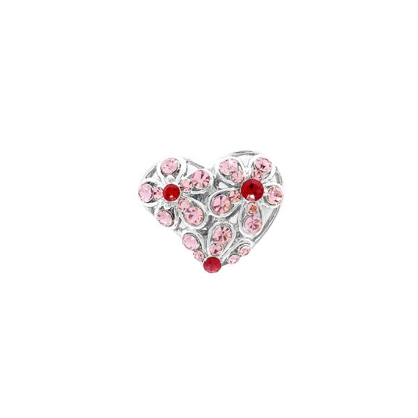 heart pink silver